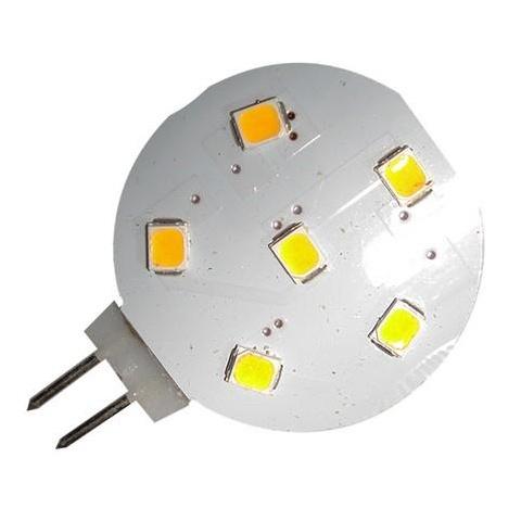 LED žiarovka 1W 6 SMD 2835 12V DC studená biela G4