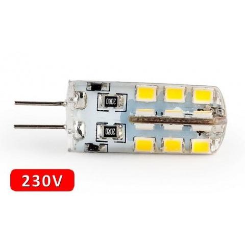 230V LED žiarovka 3.2W Teplá biela G4