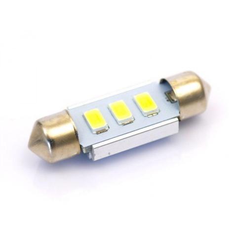 LED auto žiarovka C5W 3 SMD5630 Canbus 39mm