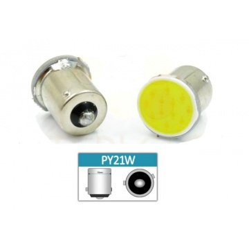 LED auto žiarovka LED BA15S 3W 24-chip COB Py21W