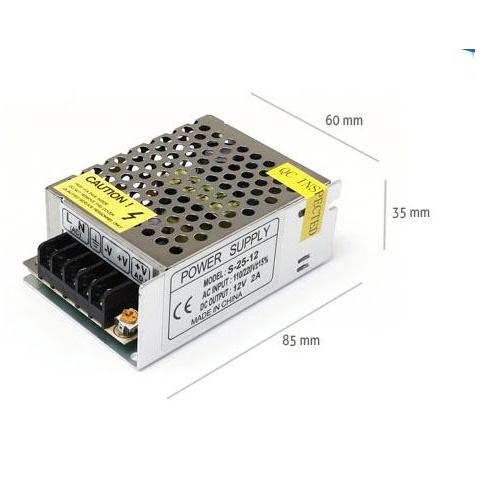 Napájací zdroj pre LED pásy 2A 24W 12V DC