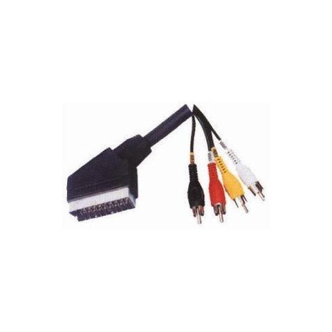 Kábel SCART - RCA 4x, 1,5m