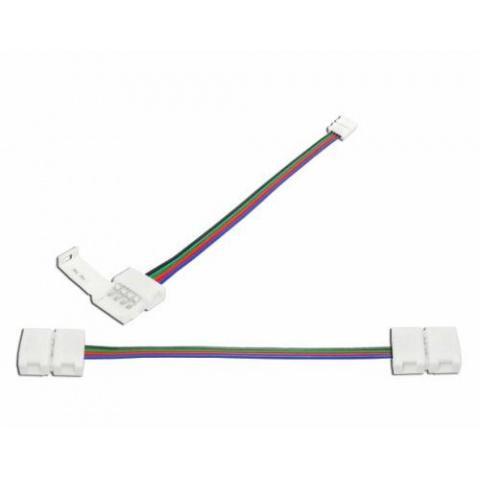 Spojka RGB LED pásov 10mm obojstranná s káblom