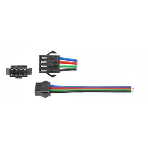 LED konektor s kábl. pre RGB pásy - zdierka