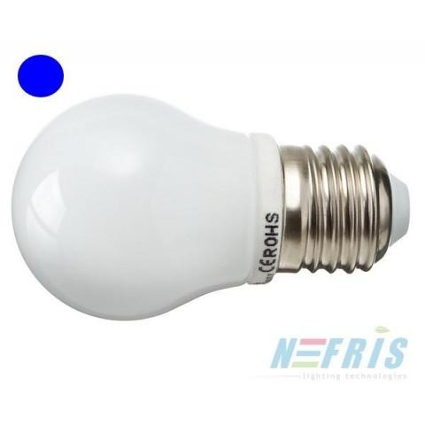 Modrá LED žiarovka 2.5W 8 SMD2835 E27