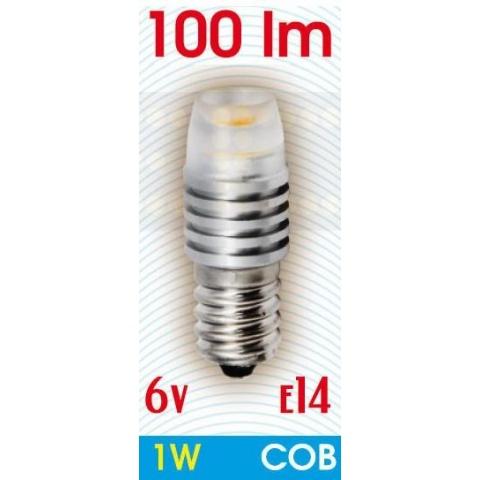 LED žiarovka 6V DC 1W Teplá, E14