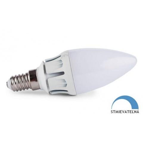 Stmievateľná LED žiarovka 7W teplá biela SMD2835 E14