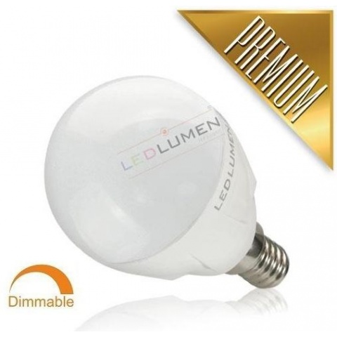 Stmievateľná LED žiarovka 6W CCD 8 SMD2835 Teplá, E14