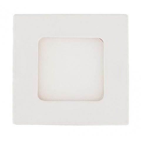 LED panel 3W Teplá biela, biely rám