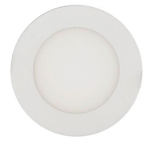 LED panel kruhový 6W/540lm Teplá biela, biely rám