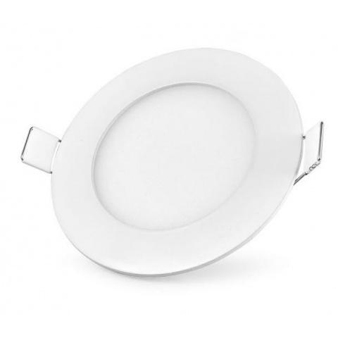 LED panel kruhový 3W Neutrálna biela, biely rám