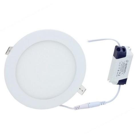 LED panel kruhový vstavaný - 12W - 230V - studená biela