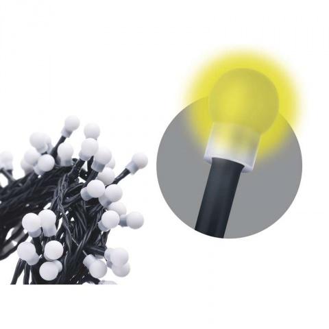 100 LED reťaz – guličky, 5m, IP20, teplá biela