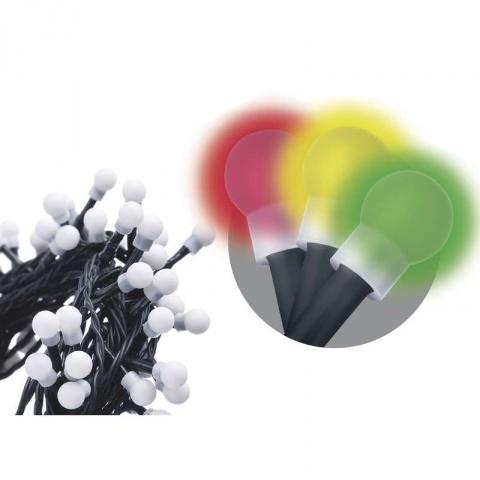 100 LED reťaz – guličky, 5m, IP20, multicolor