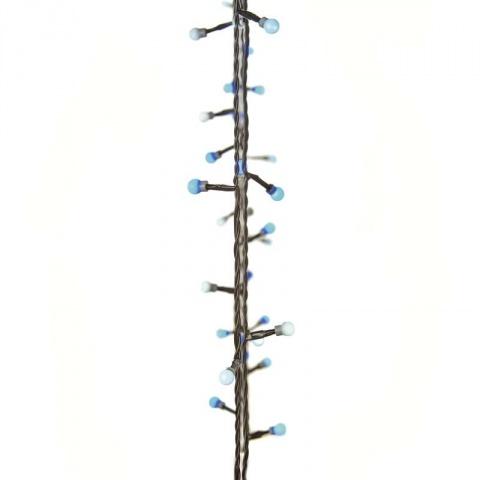 40 LED svetelná reťaz – guličky, 4m, modrá/biela, časovač