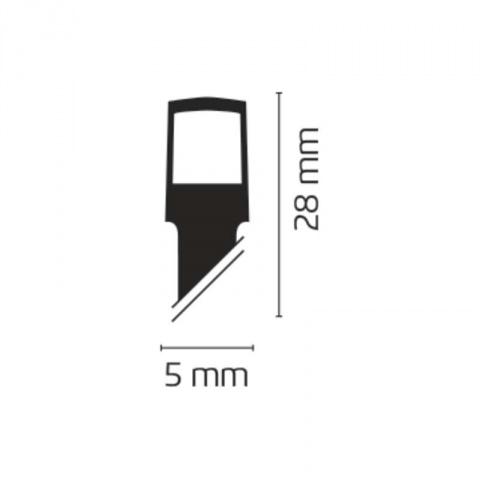 40 LED reťaz, 3×AA, 2,8m, IP44, teplá biela, časovač