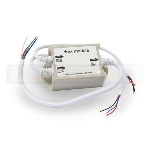 Kontrolér RGB DMX 12V 6A