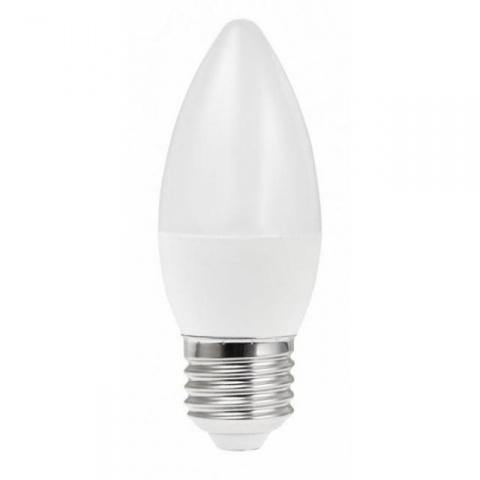 LED žiarovka 6W sviečka - studená biela E27