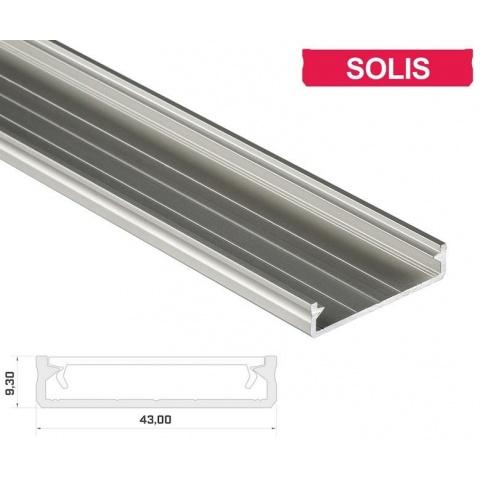2m hliníkový profil LUMI SOLIS anodovaný
