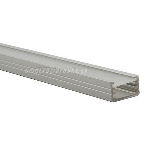 Anodovaný hliníkový profil pre LED pásy SLIM - 2m