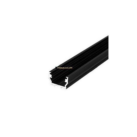 Alu profil UNI12 BCD/U čierny - 1m