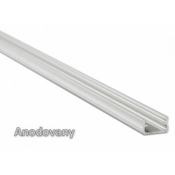 1m hliníkový profil LUMI A anodovaný