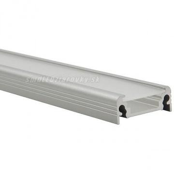 Hliníkový profil pre LED pásy SURFACE - 2m