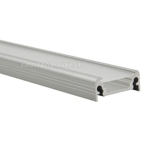 Hliníkový profil pre LED pásy SURFACE - 1m