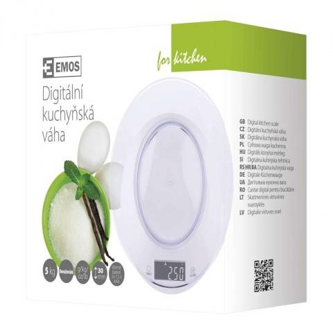 Digitálna kuchynská váha EV004 biela