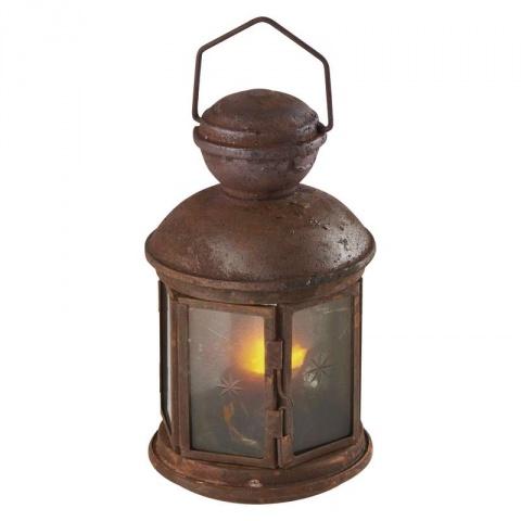 LED lampáš vintage, 3×AA, teplá biela, časovač