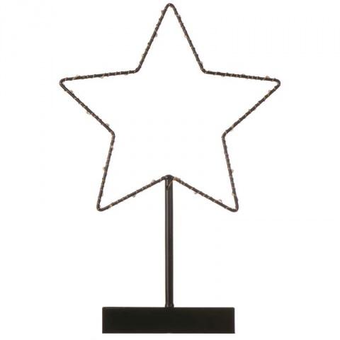 LED hviezda, 3×AA, teplá biela, časovač