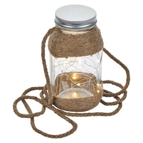 LED dekorácia – pohár, 2×AAA, teplá biela, čas.