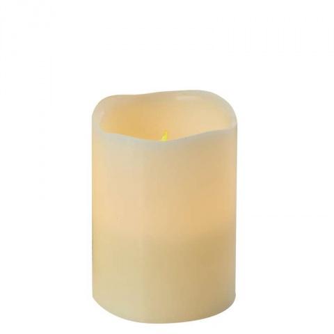LED dekorácia – sviečka, vosková, 10cm, 3×AAA, časovač