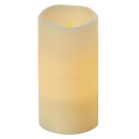 LED dekorácia – sviečka, vosková, 15cm, 3×AAA, časovač