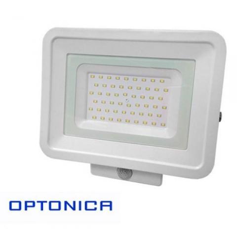 LED reflektor 50W neutrálna biela + senzor pohybu