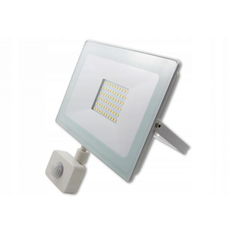 LED reflektor Vega 50W Neutrálna biela + senzor pohybu