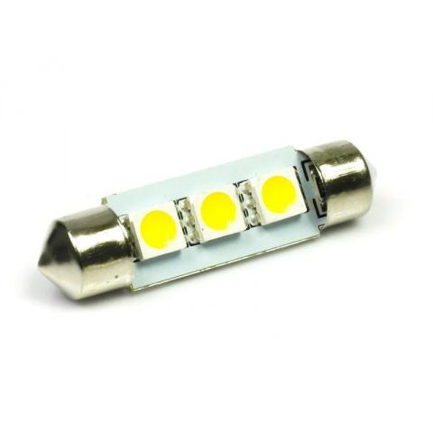 LED auto žiarovka 36mm C5W 3 SMD5050, teplá biela