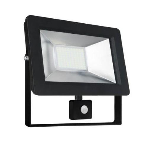 50W LED reflektor so senzorom pohybu - studená biela