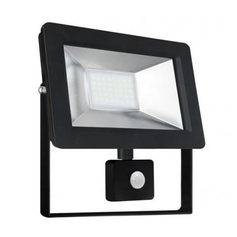 SMD LED reflektor 20W Studená biela + senzor pohybu
