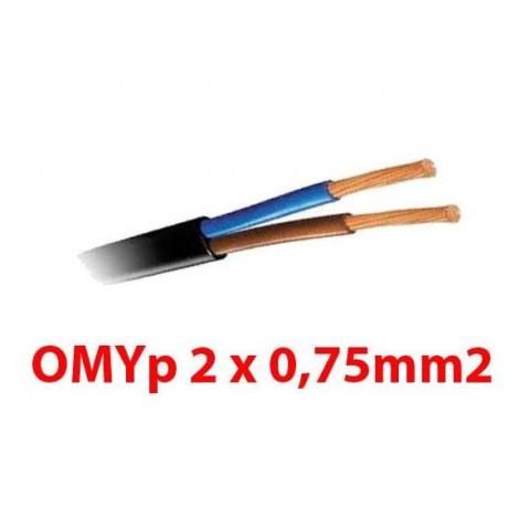2 žilový prúdový kábel 0,75mm2 čierny