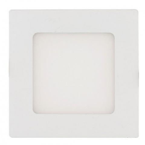 LED panel 6W/540lm Teplá biela, biely rám