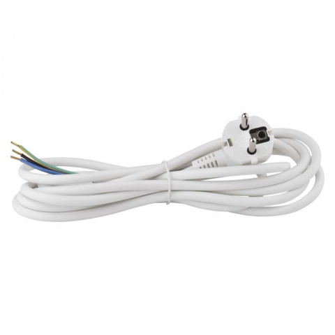 Flexo šnúra PVC 3x1,0mm 3m biela