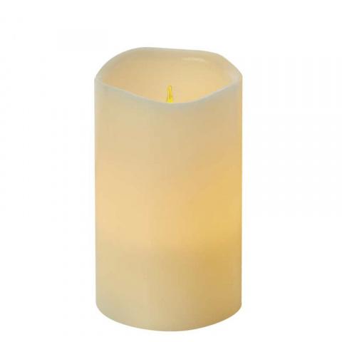 LED dekorácia – sviečka, vosková, 12,5cm, 3×AAAm časovač