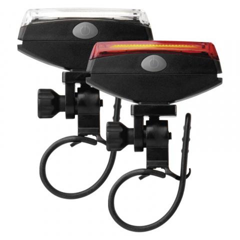 LED svietidlo na bicykel COB, SET predné + zadné