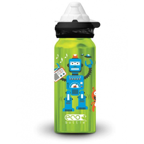 Fľaša Eco Bottle Kids Top Radio Robot 400ml