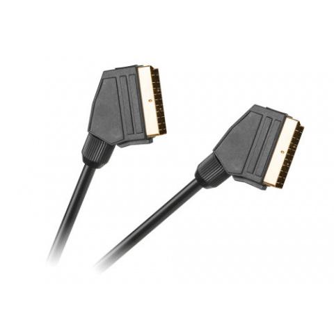 Kábel SCART-SCART 21p.1,5m čierny HQ
