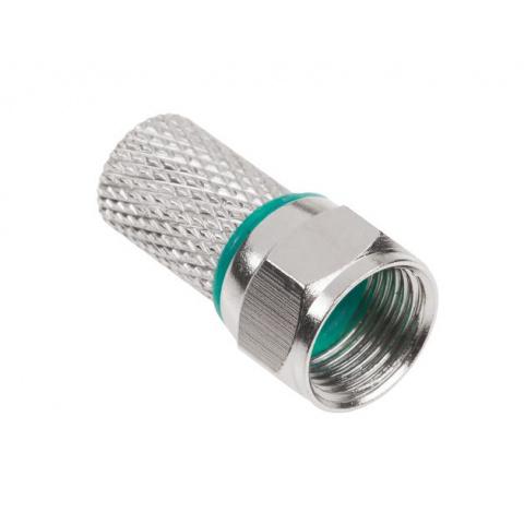Konektor F RG6-U + 2x gumička HQ