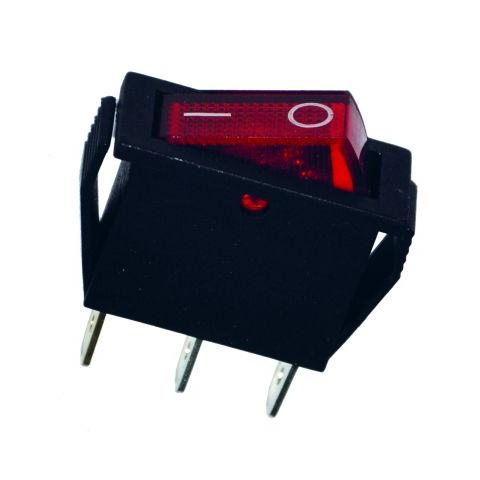 Prepínač kolískový červený ON-OFF-2pin