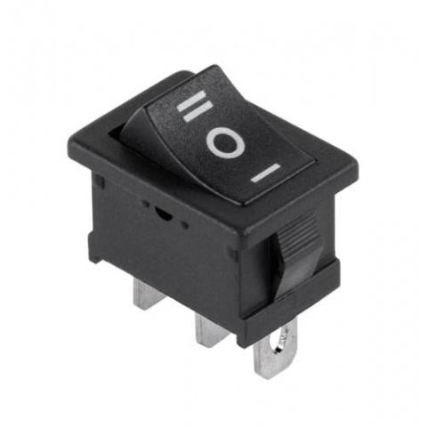 Prepínač kolískový ON-OFF-ON mini čierny