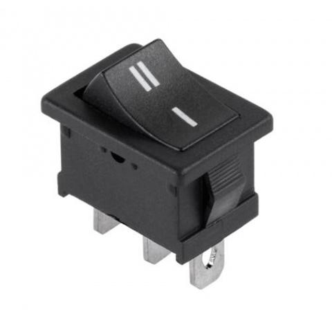 Prepínač kolískový ON-ON mini čierny